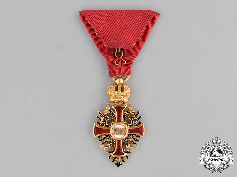 Austria, Empire. A Franz Joseph Order in Gold, Knight's Cross, by Vincent Mayer, c.1898