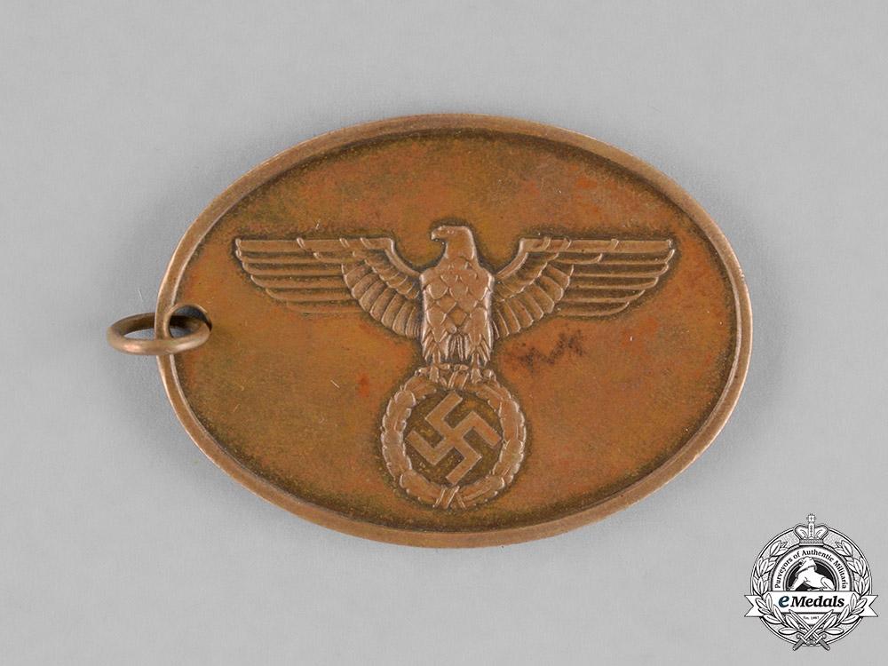 Germany. A Kriminalpolizei (Criminal Police) Identification Tag