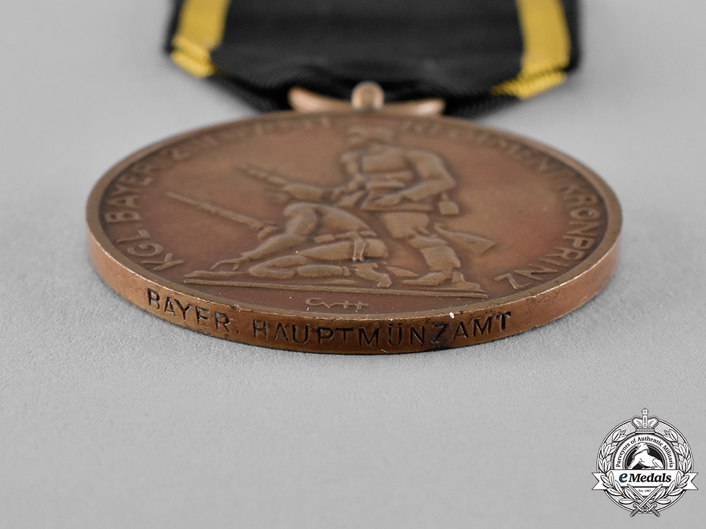 "Bavaria, Free City. A Jubilee Medal of the Second Infantry Regiment ""Kronprinz"""