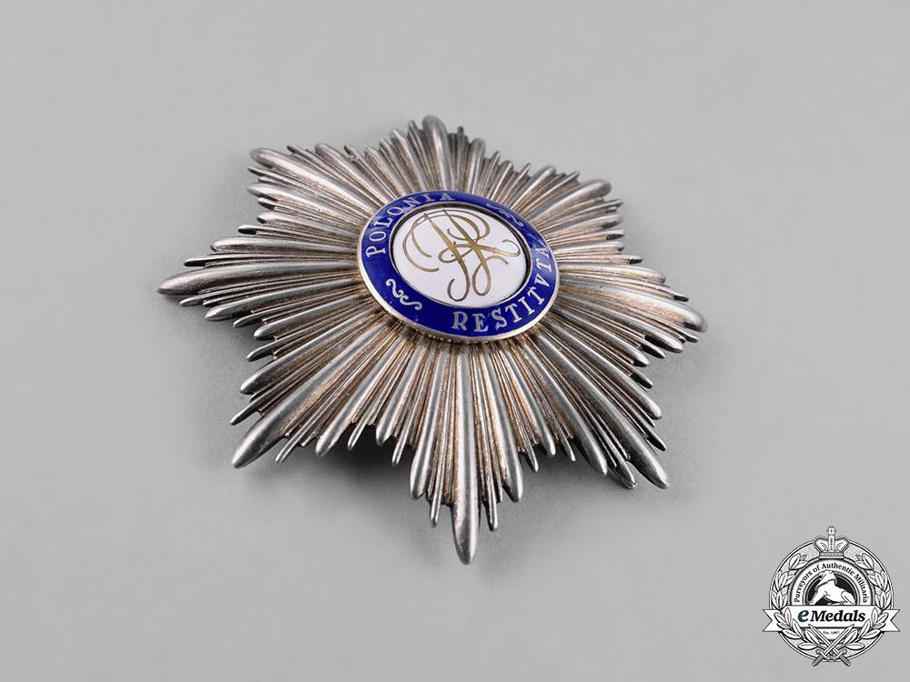 Poland, Republic. An Order of Polonia Restituta, Grand Cross Star, c.1925