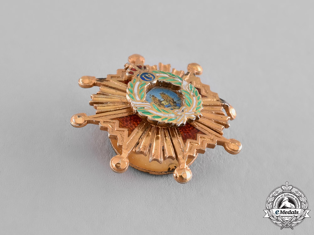 Spain, Franco's Period. A Miniature Order of Isabella the Catholic, Commander Star c. 1965