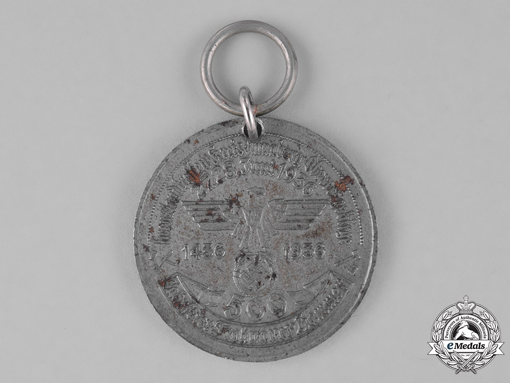 Germany. A 1936 500-Year Commemorative Medal for the Frohnauer Hammer