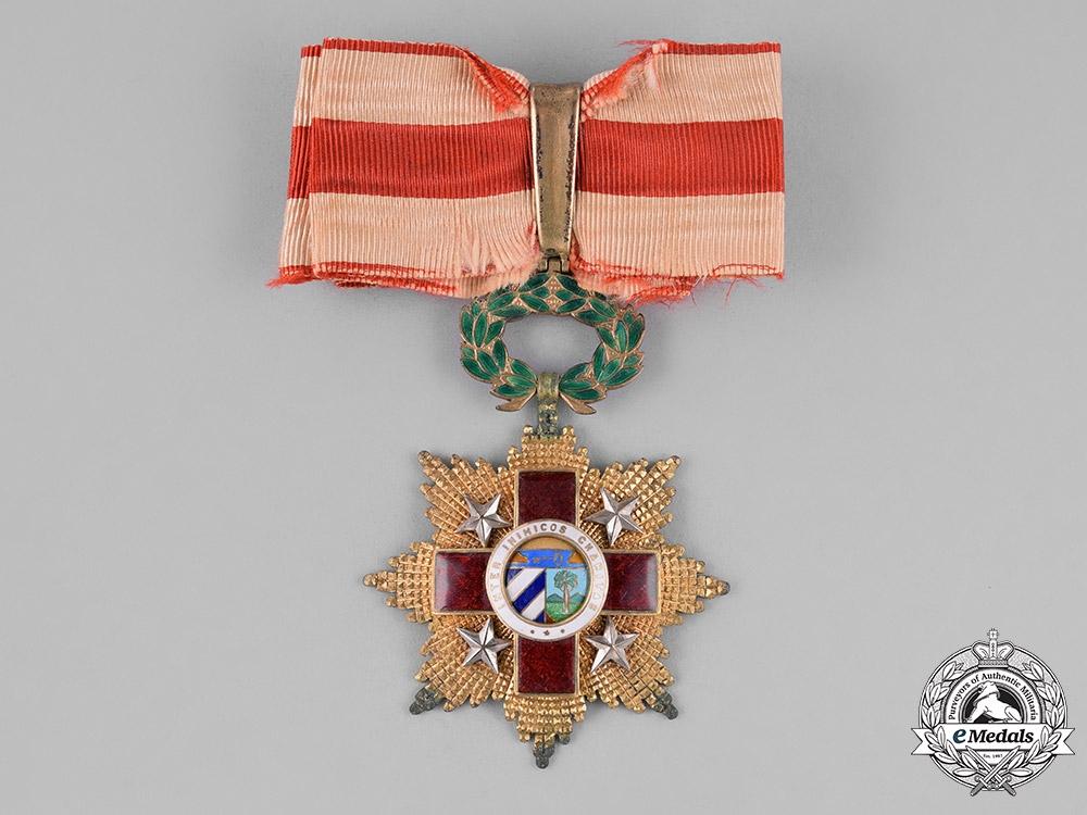 Cuba, Republic. An Order of the Red Cross, 3rd Class, Commander, Type I