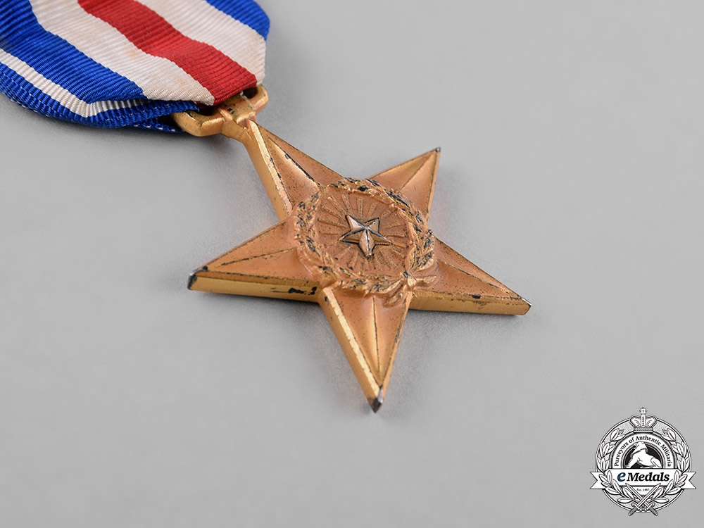United States. A Silver Star Group to Commander Walling, USN, KIA Aboard the Submarine USS Snook