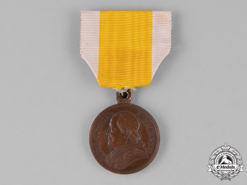 Vatican. A Twenty-Fifth Anniversary of the Papacy of Pope Pius IX Medal, 1871