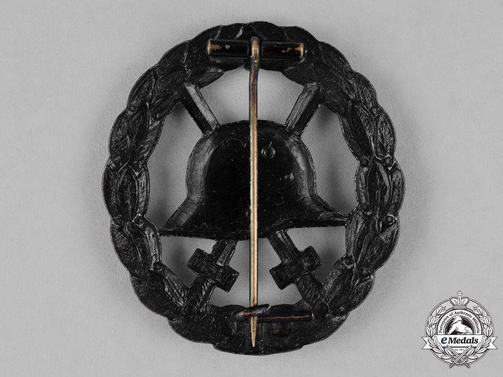 Germany, Empire. A Wound Badge, Black Grade, Hollow Stamped Version