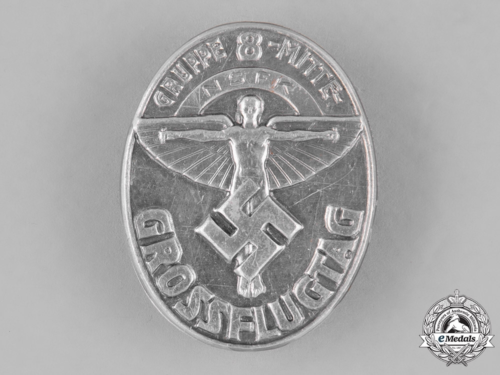 """Germany. A National Socialist Flyers Corps """"Great Day of Flight"""" Badge"""