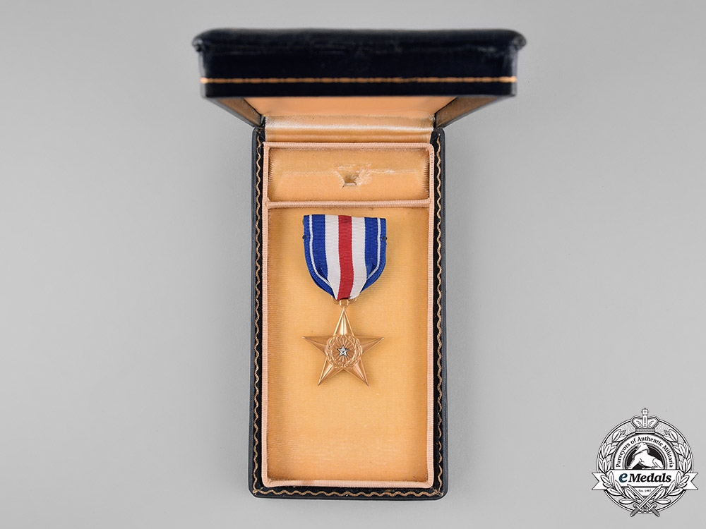 United States. A Silver Star to Lawrence Jordan, Jr. with Case