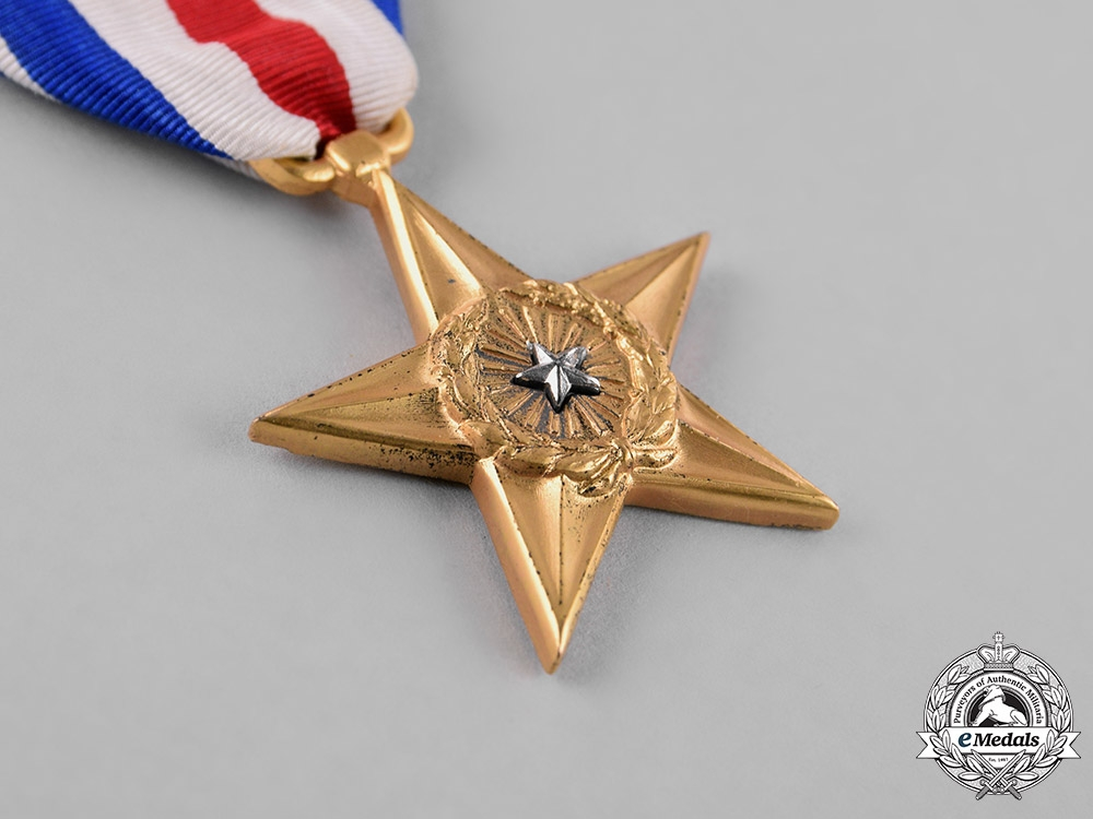United States. A Silver Star & Bronze Star Group to 1st Lieut Washburn for Actions in France & Belgium 1944-1945
