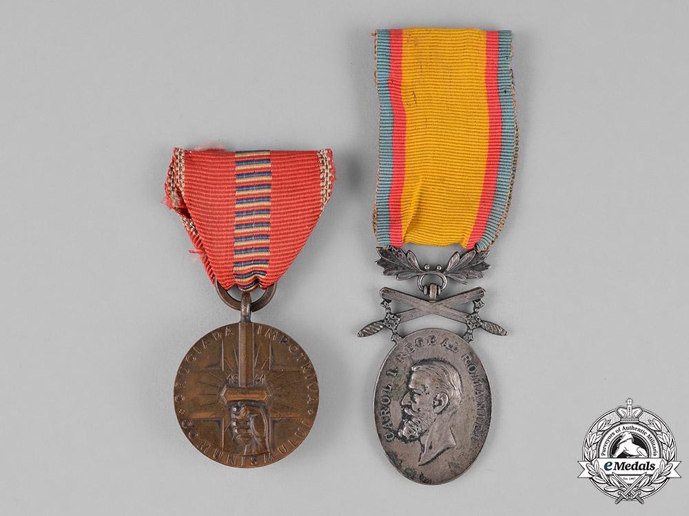 Romania, Kingdom. Two Awards & Decorations