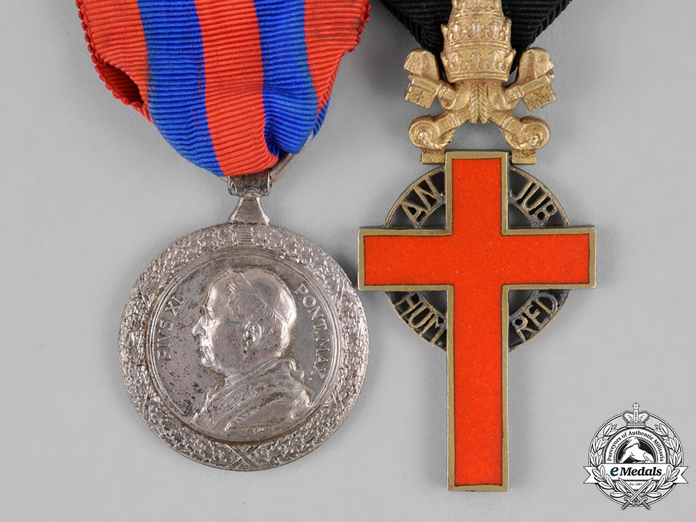 Vatican. A Medal Pair from the Papacy of Pope Pius XI, (1922-1939)