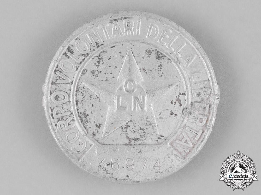 Italy, Kingdom. A National Liberation Committee Italian Partisan's Membership Badge