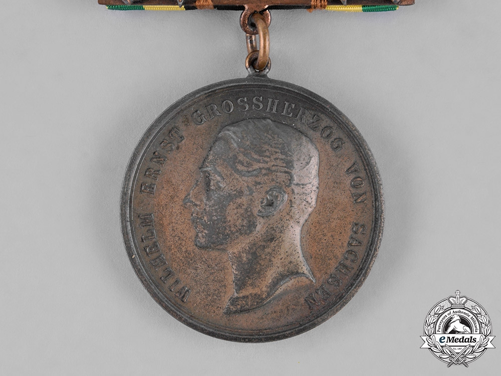 Saxony, Kingdom. A General Medal of Merit, Bronze Grade, with Sword Clasp
