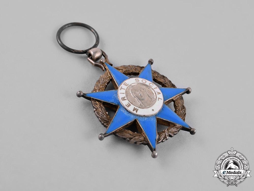 France, Republic. An Order of Social Merit, Knight, c.1945
