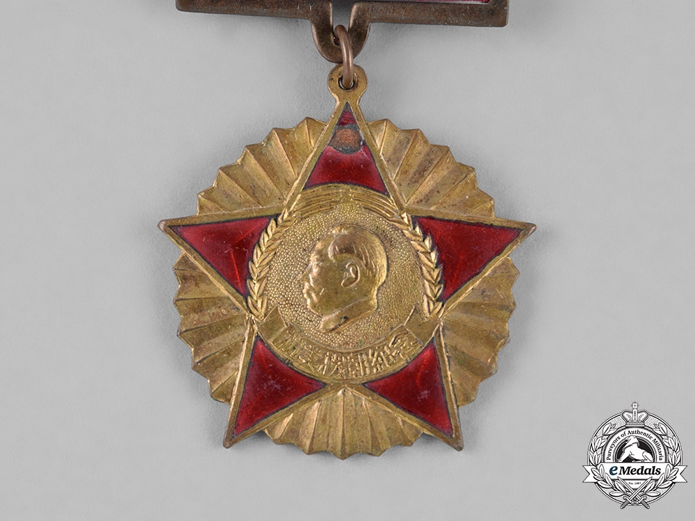 China, People's Republic. A Korean War Period Oppose America and Assist Korea Medal 1951