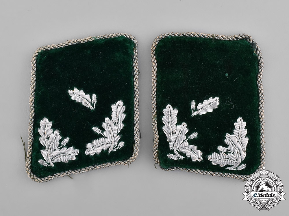 Germany, Third Reich. A Set of Forest Protection (FSK) Revierförster Aspirant Collar Tabs