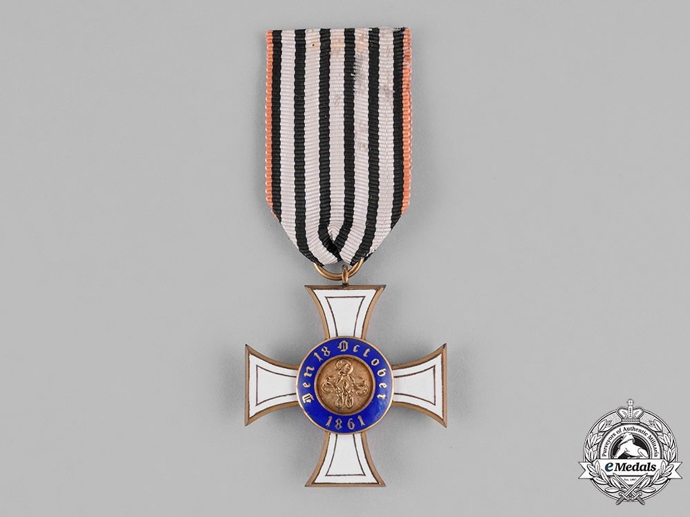 Prussia, State. A Royal Order of the Crown, III Class on Commemorative Ribbon, c.1910