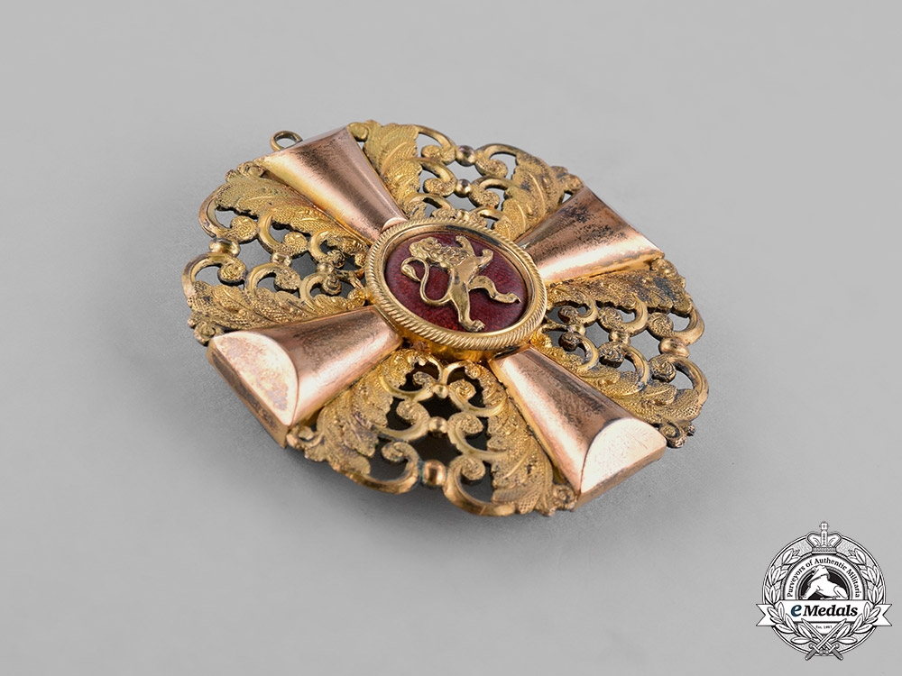 Baden, Duchy. An Order of the Zähringer Lion in Gold, Grand Cross, c.1900