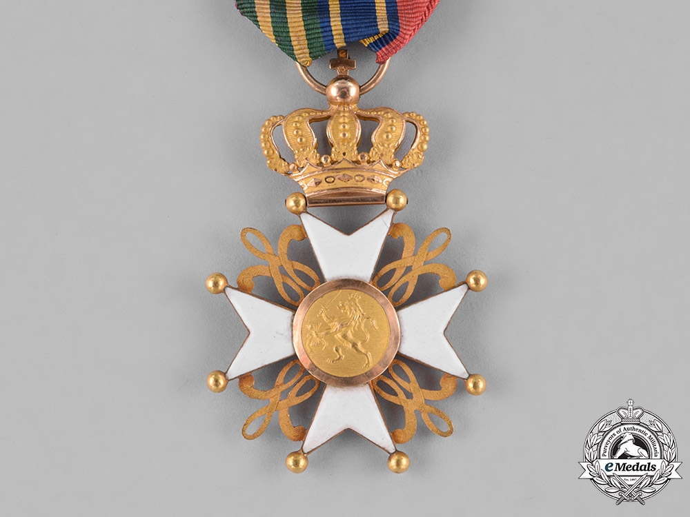 Netherlands, Kingdom. An Order of the Lion in Gold, with Commander Small Decoration, c.1860