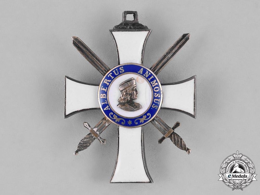 Saxony, Kingdom. An Albrecht Order, II Class Knight with Swords, c.1914