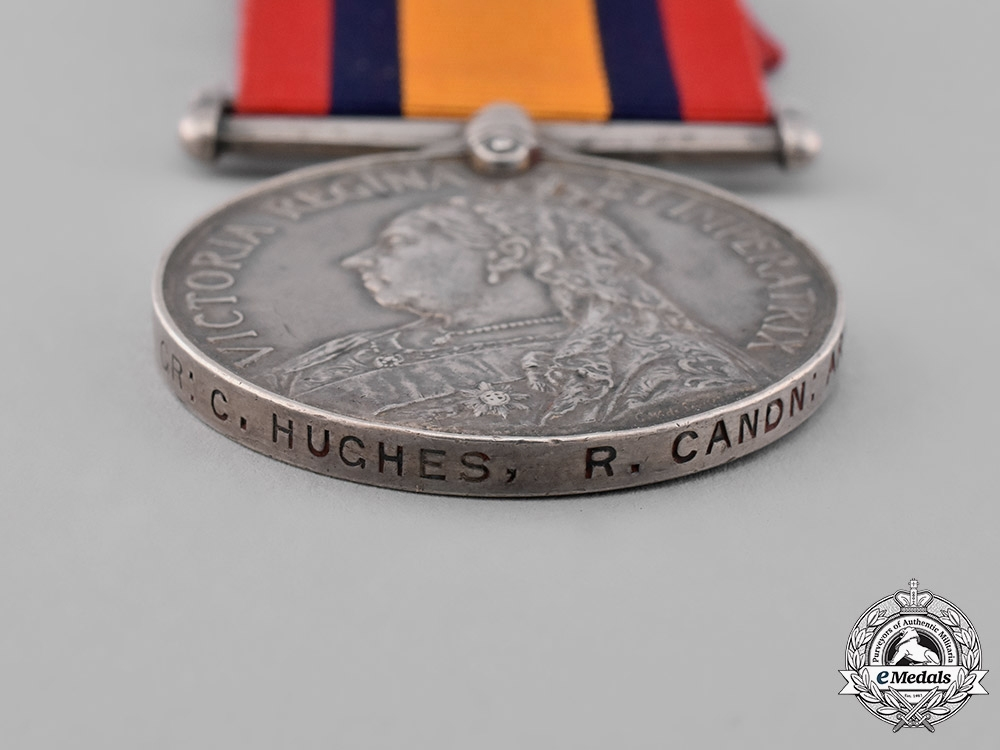 Canada. A Queen's South Africa Medal, to Gunner Charles W. Hughes, Royal Canadian Artillery