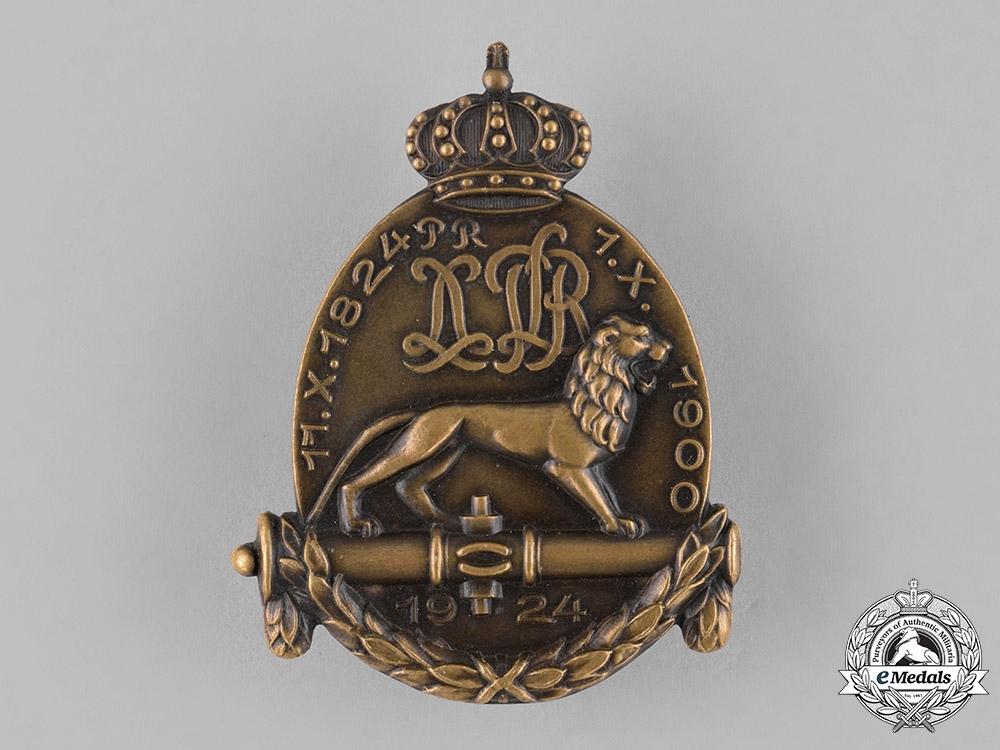 Germany, Weimar. A 1924 Artillery Regiment Anniversary Badge