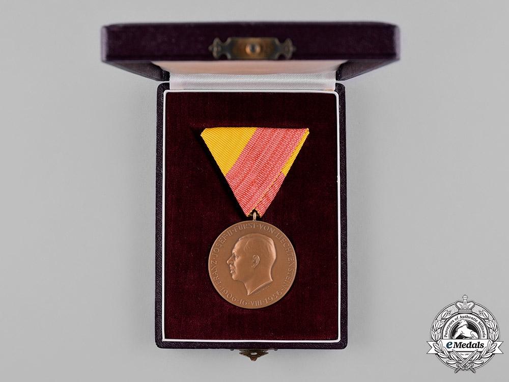 Liechtenstein. A 1956 Prince Franz Josef II of Liechtenstein 50th Birthday Medal