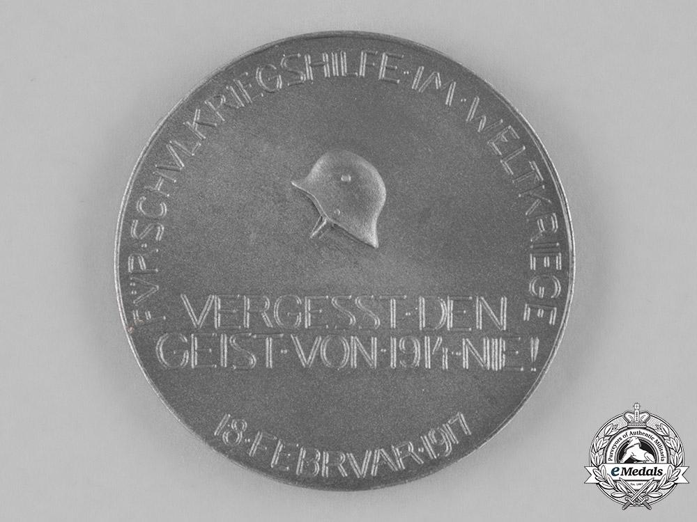 Germany, Imperial. A 1917 Hindenburg First War Honour Medallion by Karl Pöllath