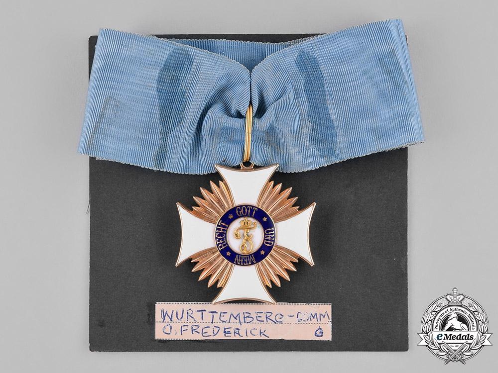 Württemberg, Kingdom. An Order of Friedrich in Gold, Commander's Cross, c.1910