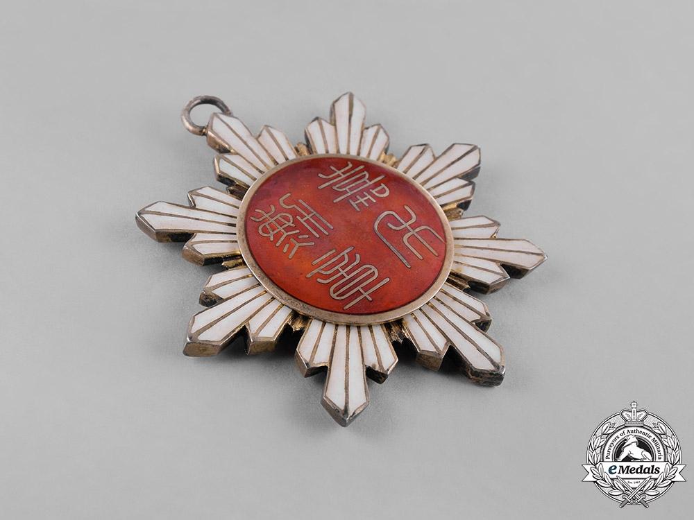 China, Republic. An Order of the Precious Brilliant Golden Grain, V Class Commander, c.1920