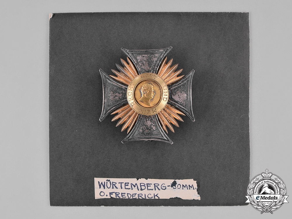 Württemberg, Kingdom. An Order of Friedrich, Commander's Star, by Eduard Foehr, c.1915