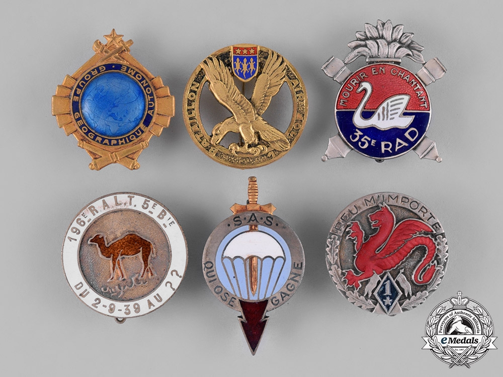 France, Republic. Twenty-Four French Overseas Military Badges