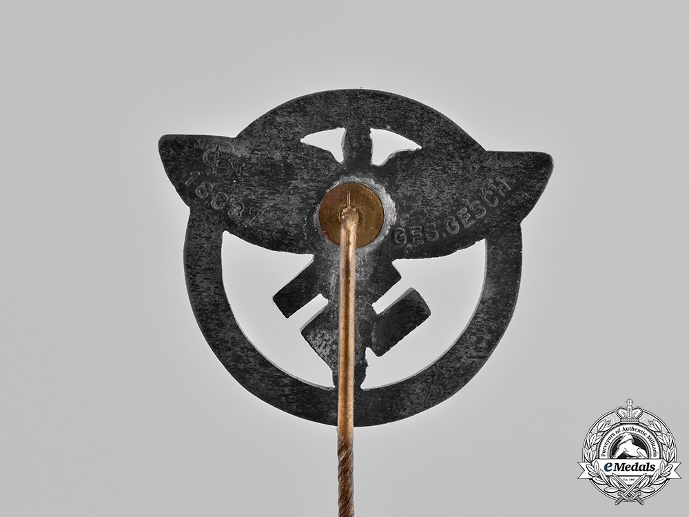 Germany, Third Reich. A National Socialist Flying Corps (NSFK) Membership Pin, by Gustav Brehmer