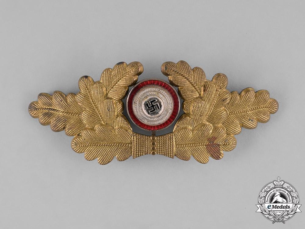 A Political Visor Cap Wreath Insignia