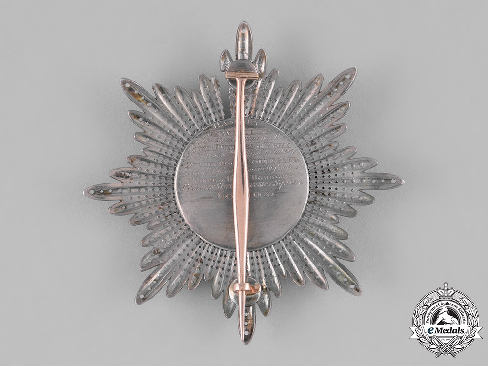Prussia, State. A High Order of the Black Eagle, Breast Star to the Cross of the Order, by Hamlet, c.1820
