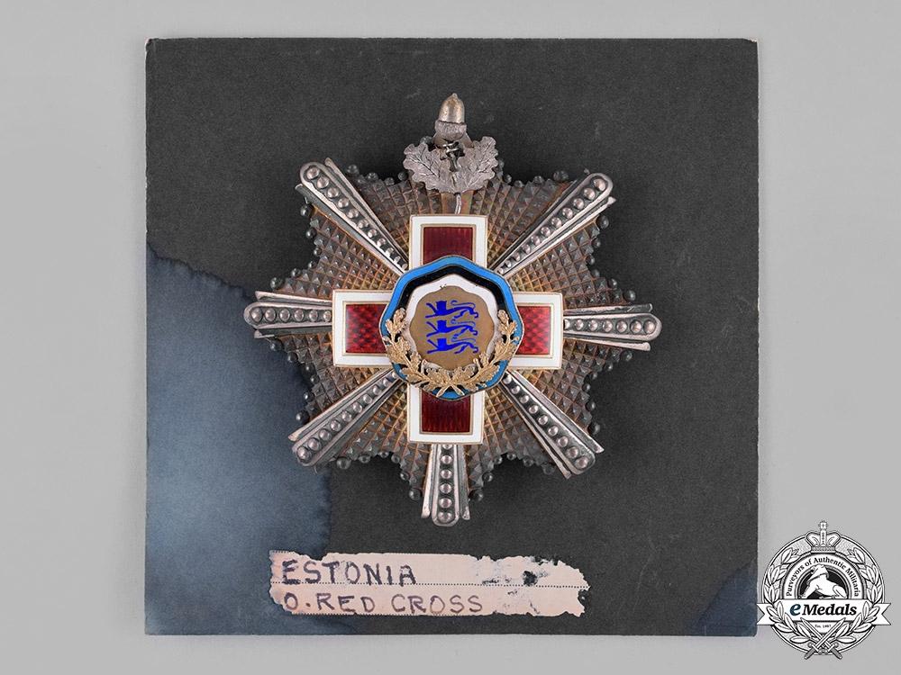 Estonia. A Red Cross Order, I Class Grand Cross Star, c.1925
