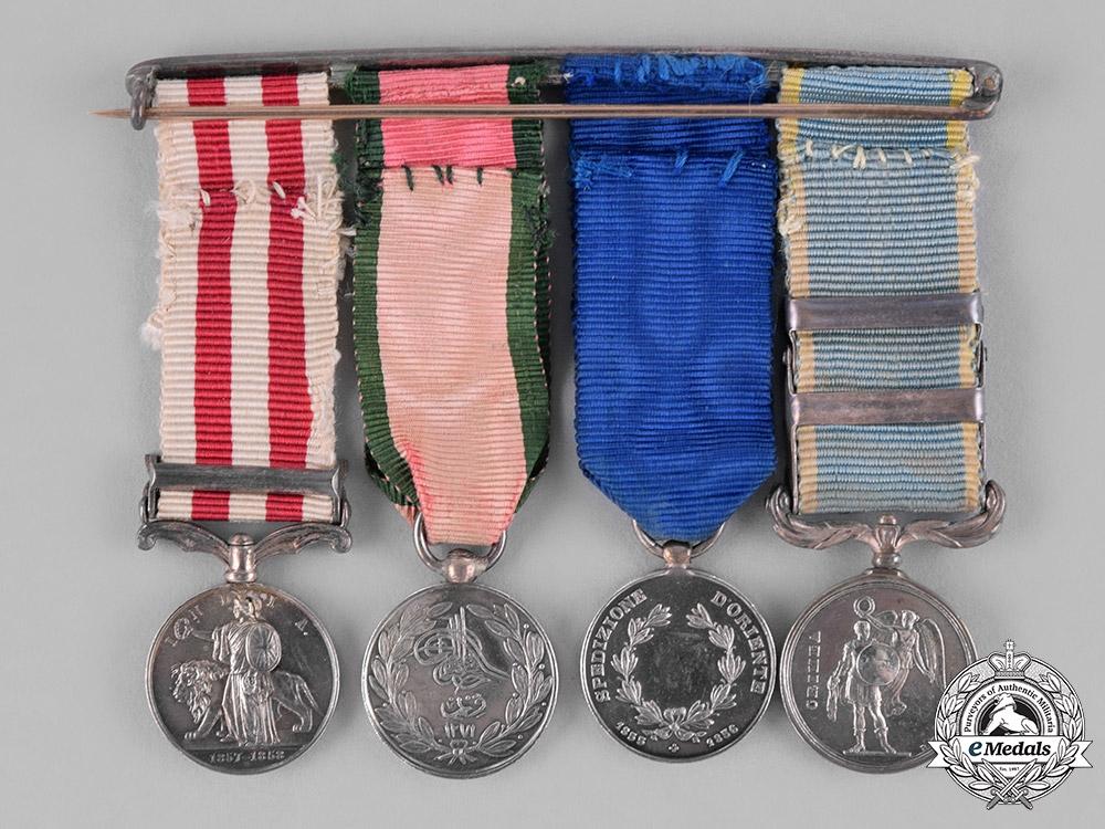 United Kingdom. A Fine Crimea & India Miniature Group to Lieutenant Colonel James Whybrow