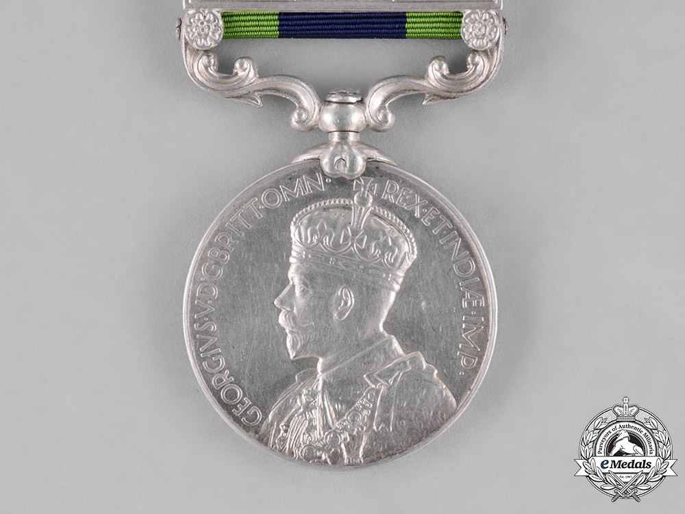 United Kingdom. An India General Service Medal 1908-1935, to Signalman Mohammed Shafi, Indian Signals Corps