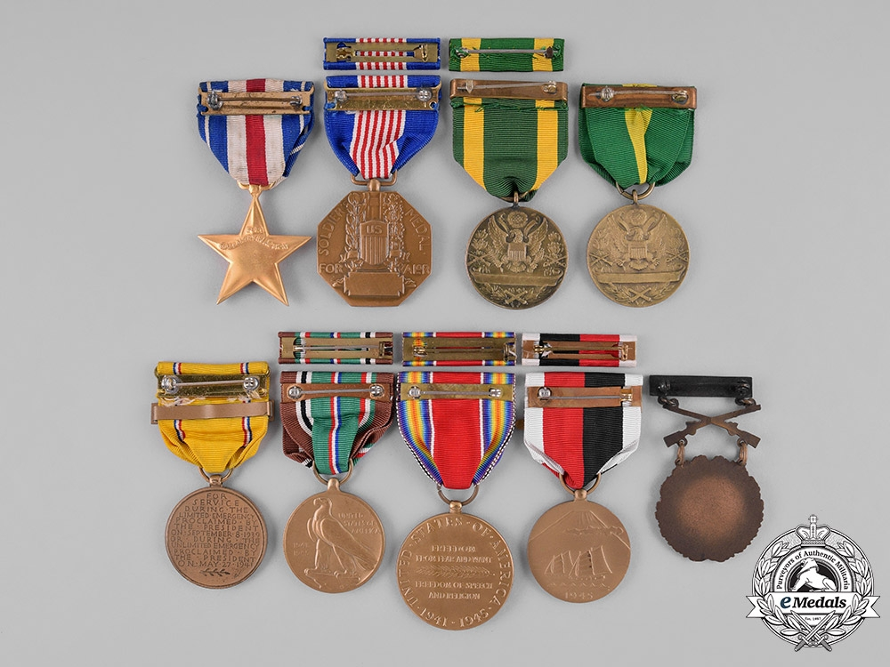 United States. A Lot of Nine Medals & Campaign Awards, c.1946