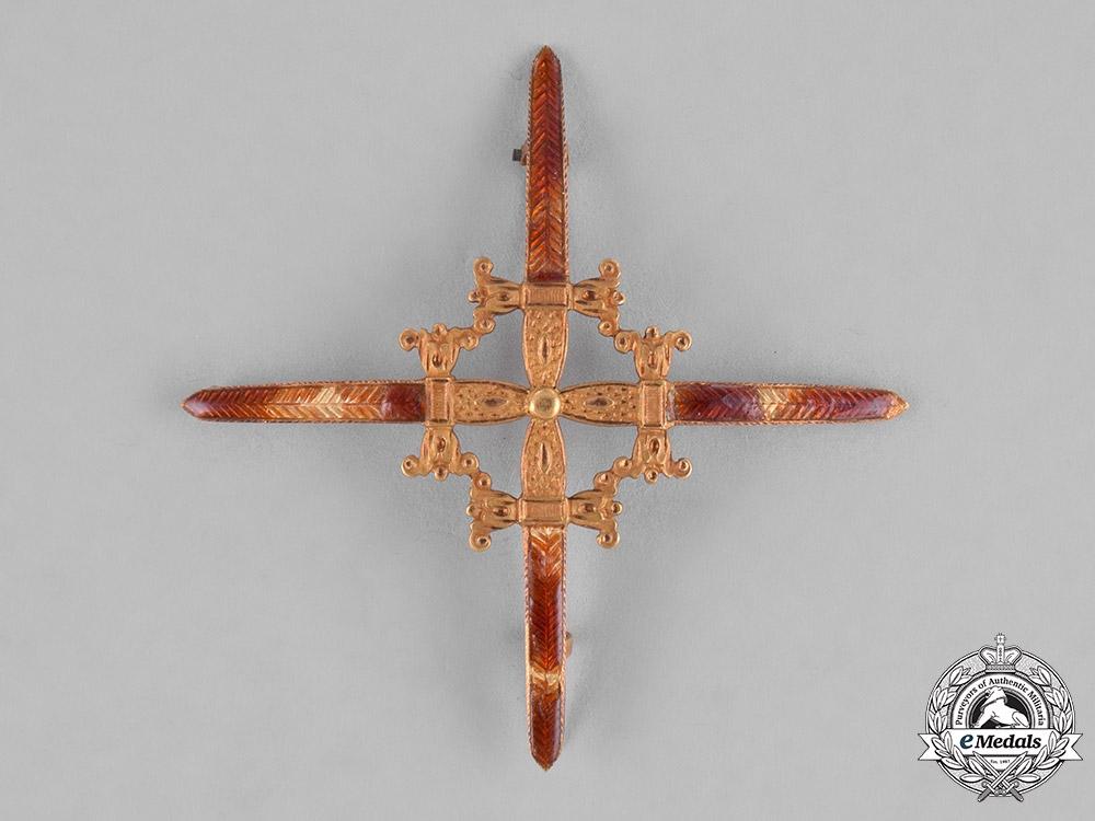 Spain, Kingdom. A Laureate Cross of Saint Ferdinand in Gold, Field Uniform I Class, c.1840