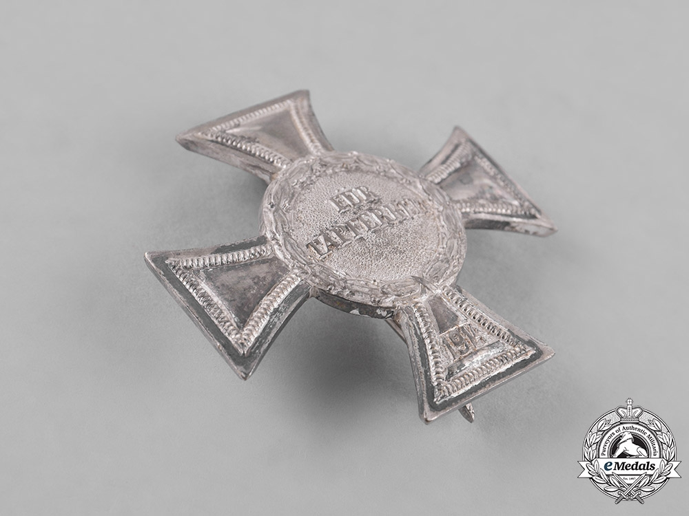 Mecklenburg Strelitz. A 1914 Silver Bravery Cross, First Class by Meybauer