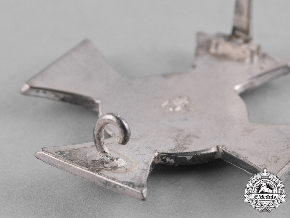 Mecklenburg Strelitz. A 1914 Silver Bravery Cross, First Class by Meybauer
