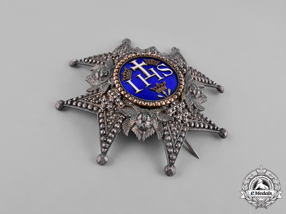 Sweden, Kingdom. A Royal Order of the Seraphim, Grand Cross Star, by Kretly, Paris, c.1880