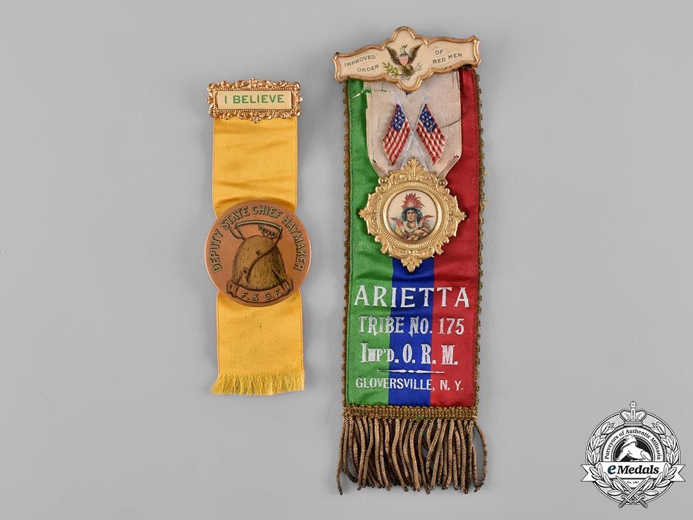 United States. Six Improved Civil Order & Association Badges, c.1910