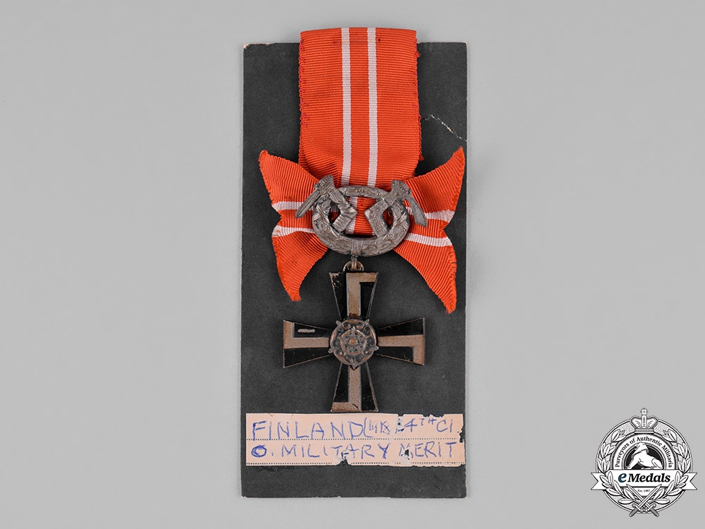 Finland. An Order of the Cross of Liberty, IV Class, Military Division, c.1930