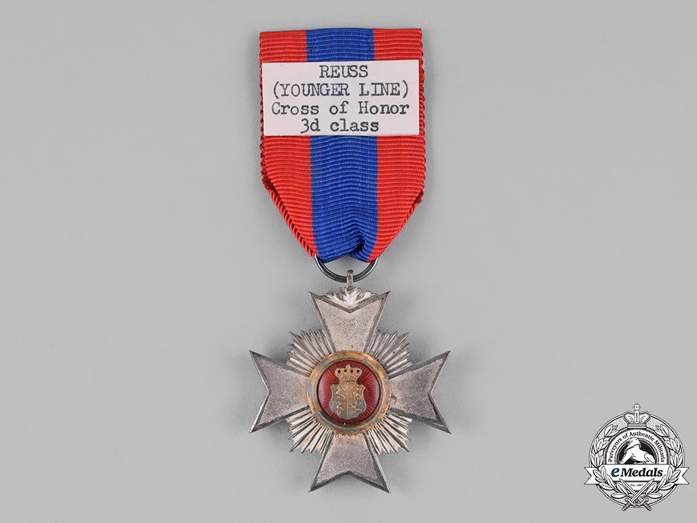 Reuss, County. A Princely Honour Cross, III Class Knight, c.1910