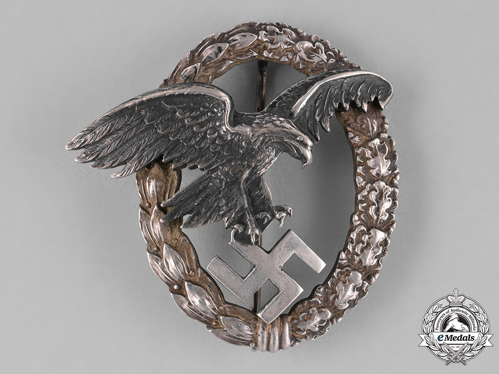 Germany, Luftwaffe. An Early Observer's Badge by C.E. Juncker, with Case