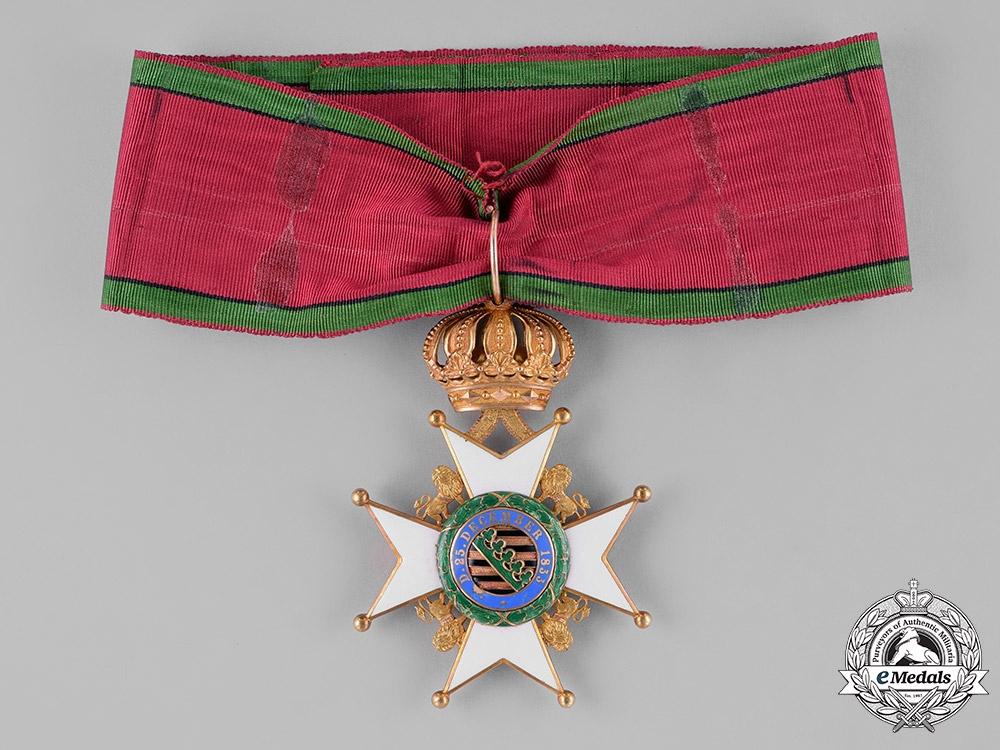 Saxony-Coburg-Gotha, Duchy. A Saxon Ernestinian Houseorder, Commander Cross with Oak Wreath, c.1860