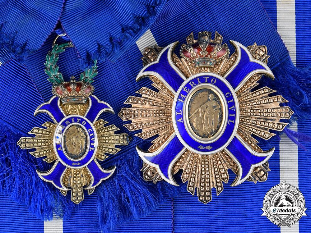 Spain, Kingdom. An Order of Civil Merit, Grand Cross, c.1920