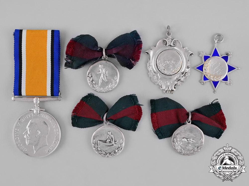 Canada. A British War Medal, Lieutenant Crofton, 182nd Infantry Battalion, Royal Air Force